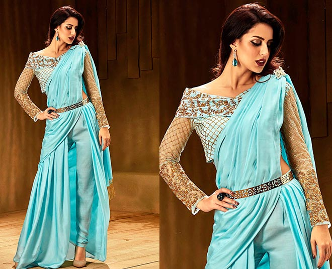 try indo western traditional dresses