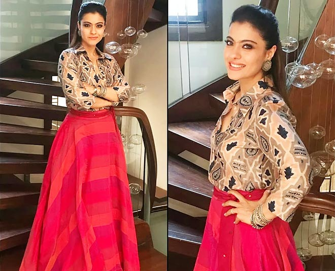 wear a loose shirt with lehenga to get different look inside one