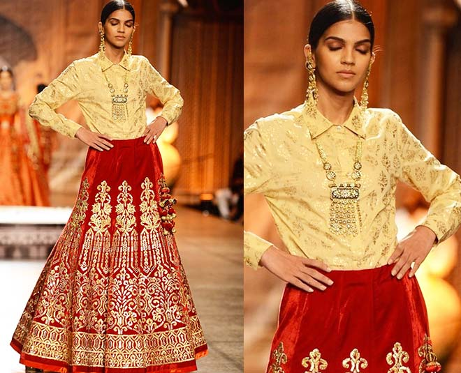 wear a loose shirt with lehenga to get different look inside two