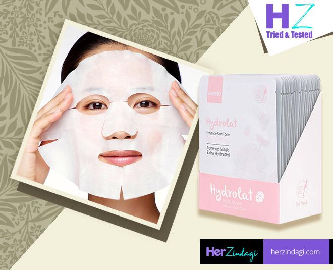 Miniso Hydrolat Facial Mask Sheet Rose personal experience