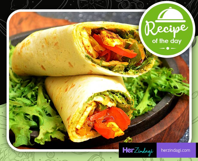 cook paneer frankie roll at home main