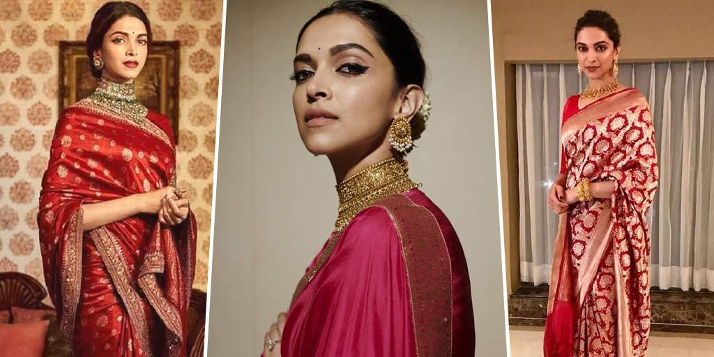 7 Times Deepika Padukone Left Us Spellbound In Silk Sarees