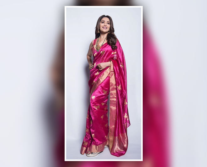 for karva chauth saree collection madhuri dixit