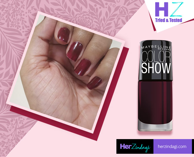 maybelline color show nail polish molten maroon main