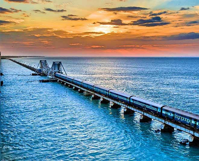 rameshwaram bridge underwater main