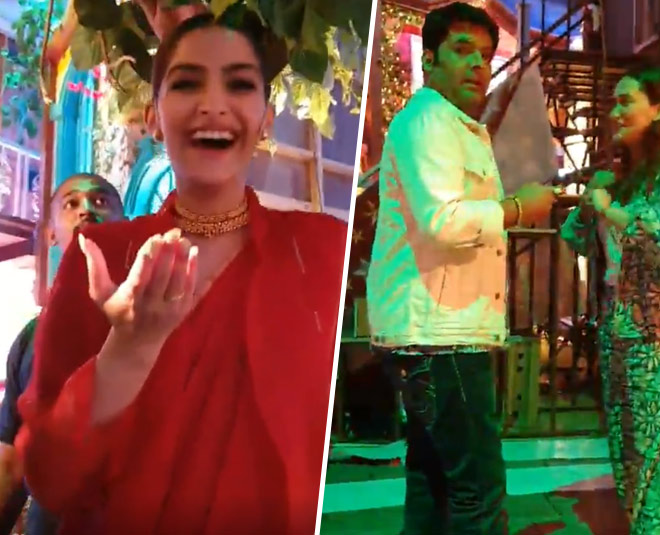 sonam at the kapil sharma show for film the zoya factor promotion archana puran singh share the video main