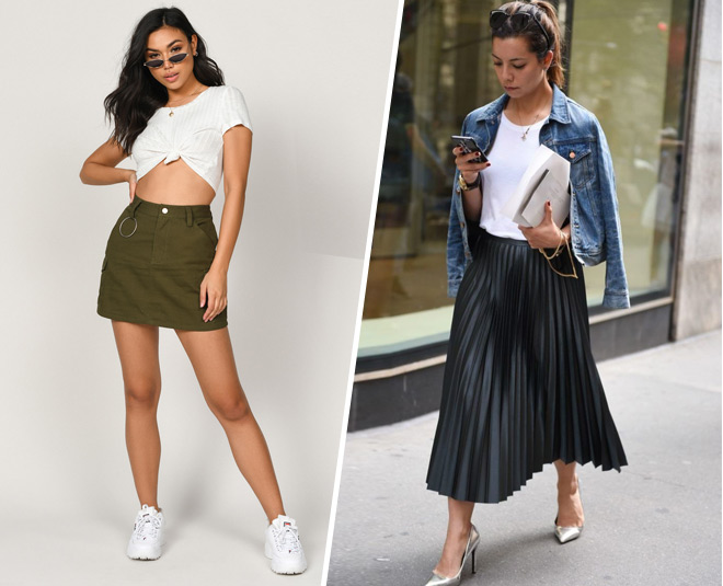 style skirts in different ways for office and  party main