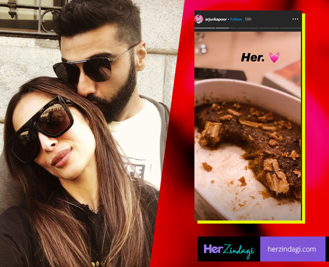 arjun kapoor expresses his love for malaika arora shares cake picture main