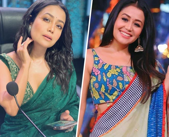 Take Notes From Neha Kakkar S Trendy Blouses And Sarees For The Upcoming Festive Season