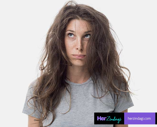 best winter frizzy hair hack
