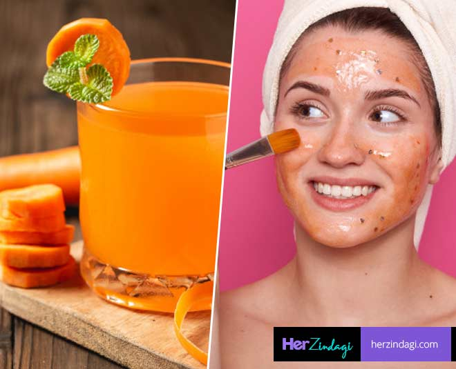 carrot juice for acne skin