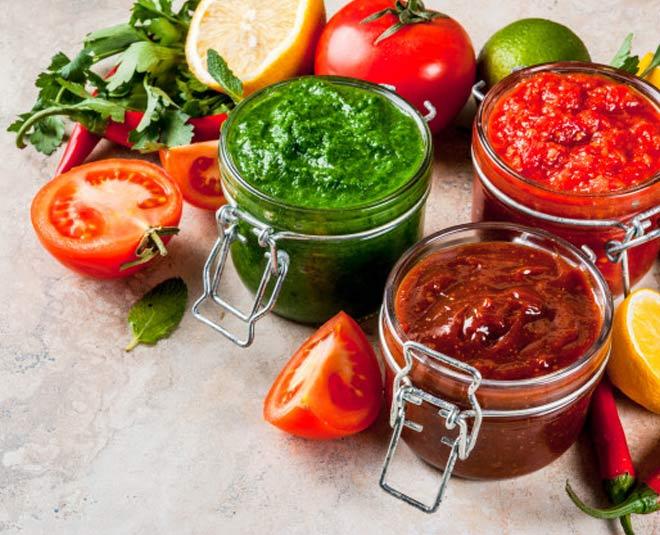 dhaba style tomato chutney garlic chutney