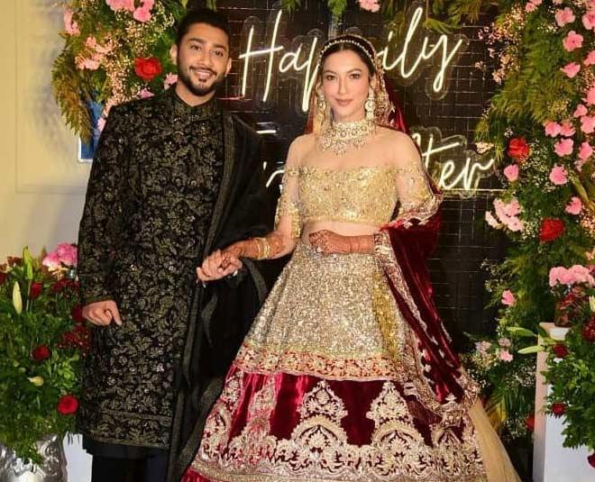 gauahar khan and zaid darbar see wedding pic