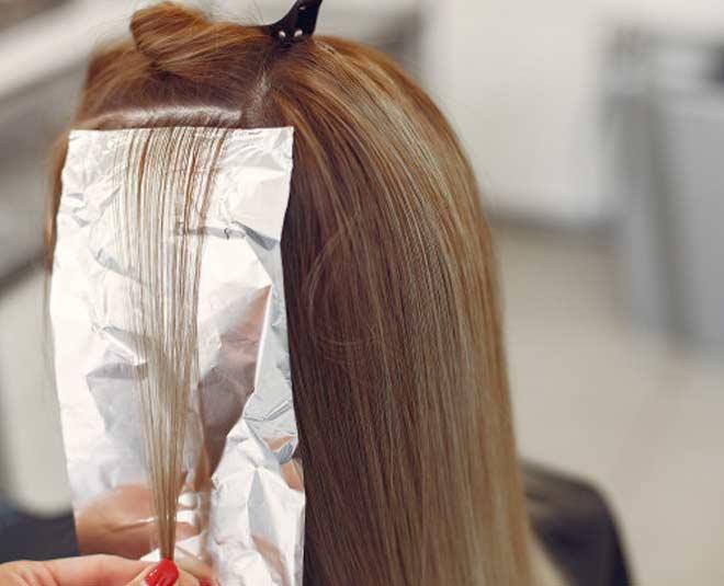 hair bleaching and rebonding