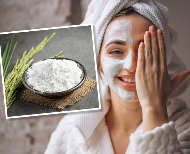 milk and rice flour face pack