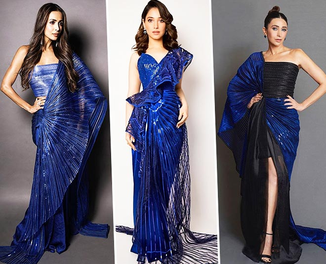 bollywood diva blue dress