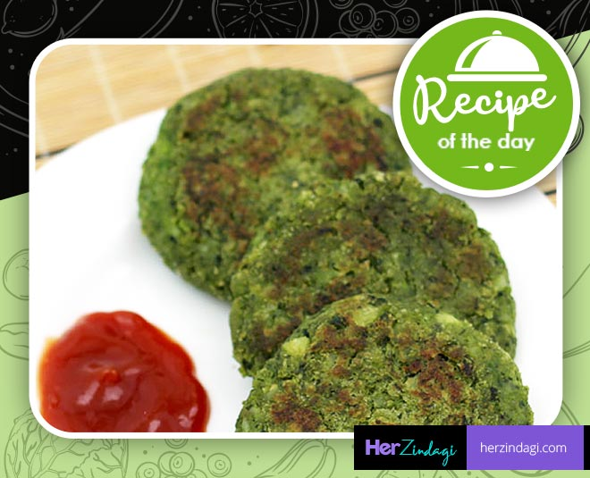 easy and simple recipe of palak kebab tips