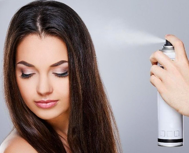 get shiny look with hairspray main
