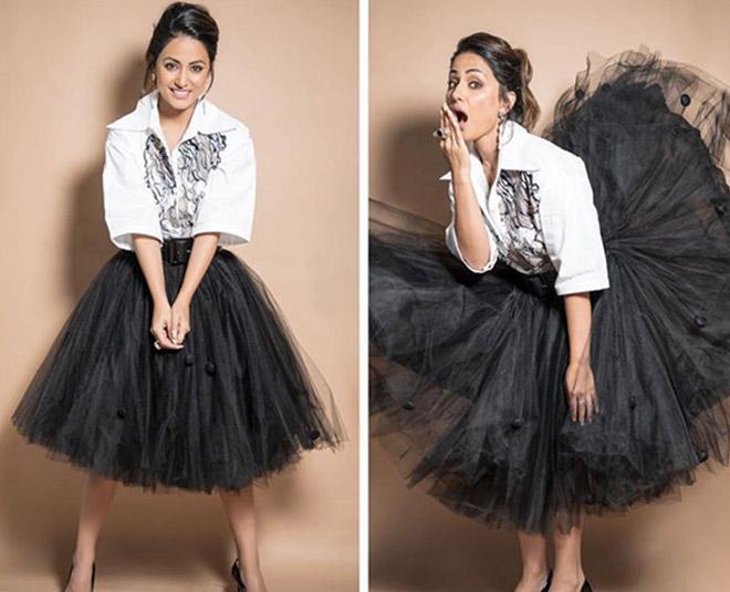 hina khan white dress style Main