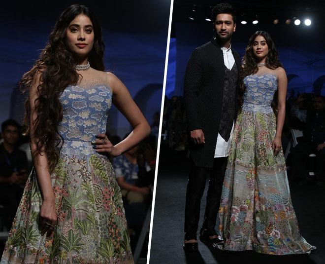 janhvi and vickky lakme fashion show