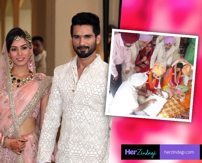 shahid mira wedding album