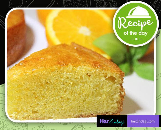 best orange eggless cake