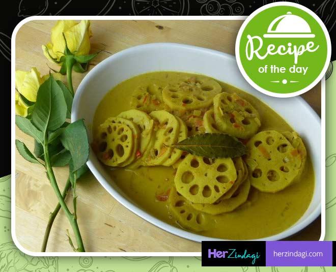 kashmiri cuisine nadru yakhni recipe