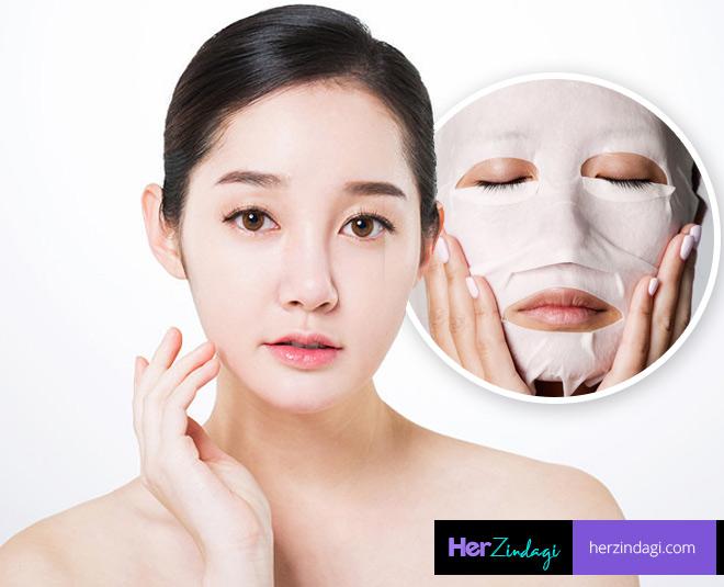 korean skin care face mask for glowing skin