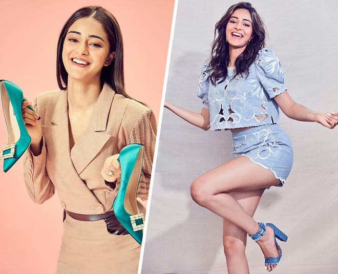 actrees ananya pandey colourful footwear