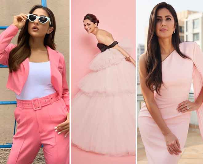 bollywood celebrities in pastel pink summer fashionss
