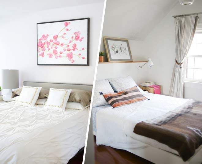 decorate space above the bed