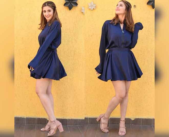 dhvani bhanushali stylish dress