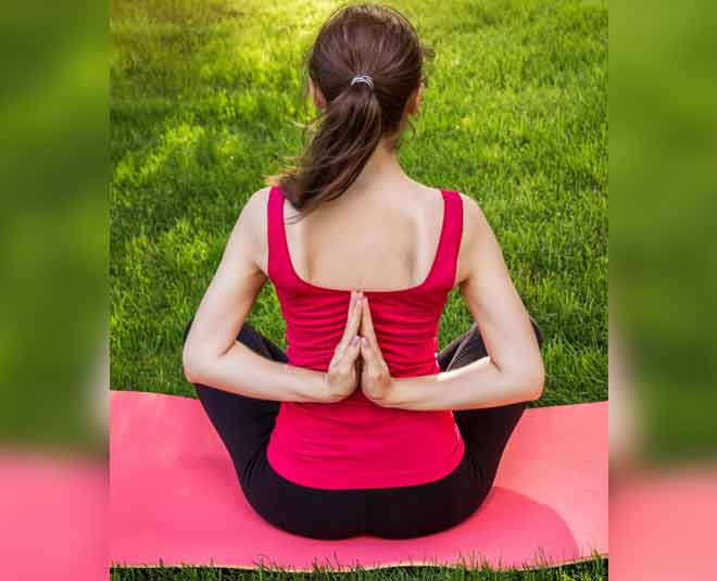 health benefits of reverse prayer pose