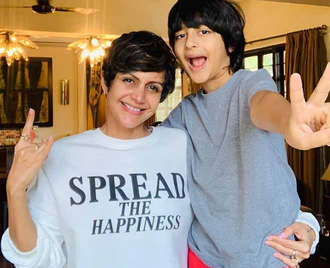 best mother son relationship of mandira bedi and her son