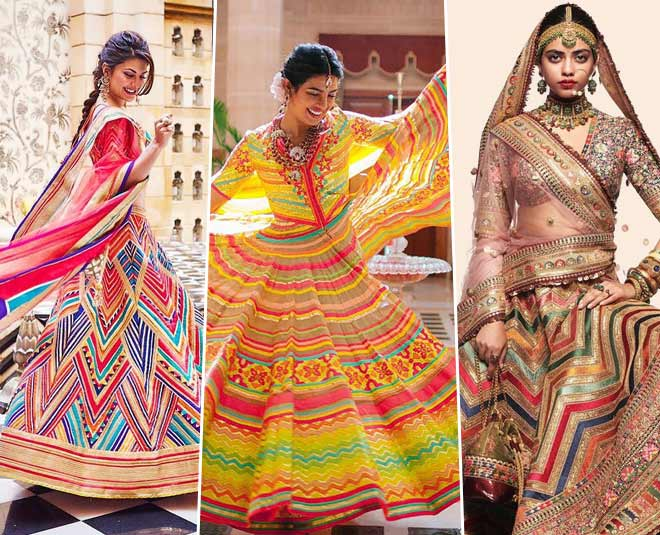 best multicolor lehenga looks for brides