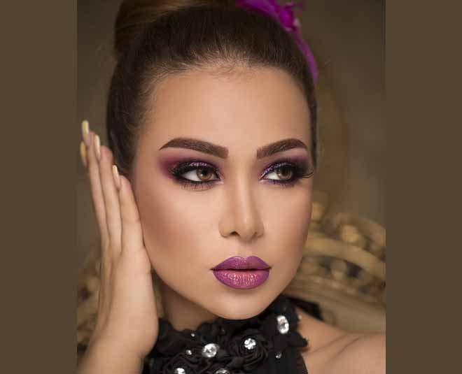 bold eyes and lips together beauty