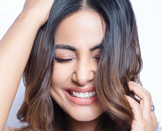 hina khan thick  hair secrets hacks