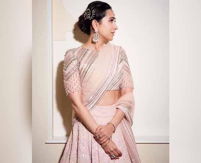 manish malhotra pink lehnga style inside
