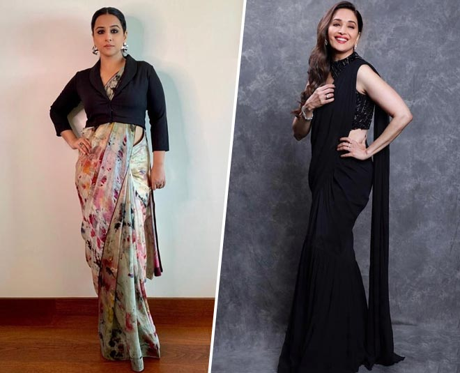saree pallu on left or right shoulder