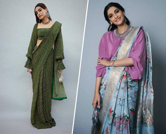 sonam kapoor best sarees blouses