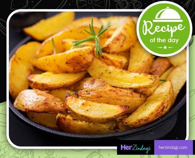 best garlic potato wedges recipe