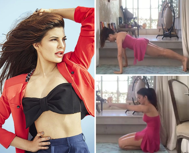 Jacqueline Fernandez Fitness Video For At Home Workout During Coronavirus  Pandemic