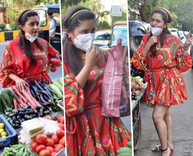 rashami desai buy vegetable in style main