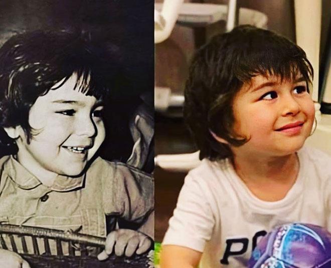 saif ali khan childhood picture and taimur main