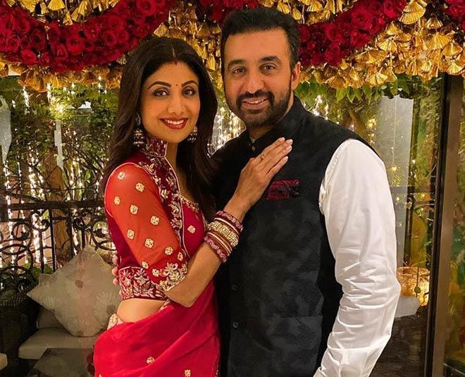 shilpa shetty in ethnic look with her husband raj kundra main