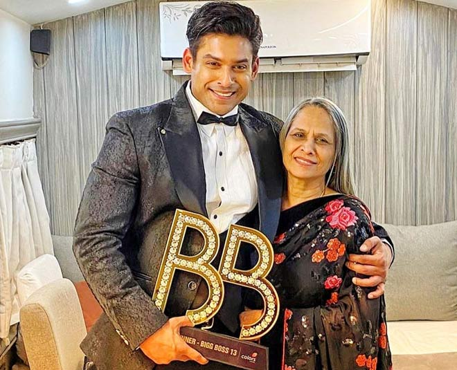 sidharth shukla  mother pics