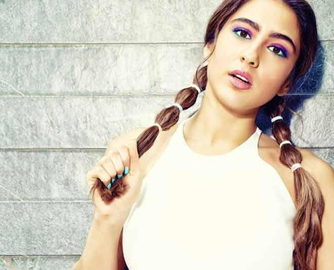 Sara ali khan cute ponytail hairstyles Fahion