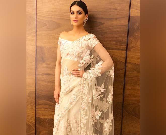 actress kriti sanon saree looks tips