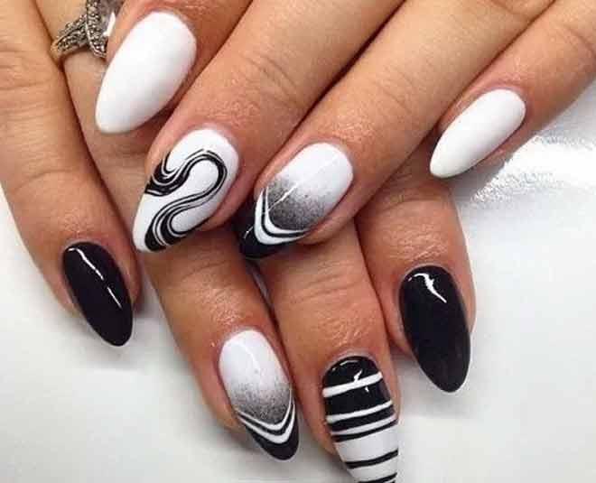 amazing white nail art
