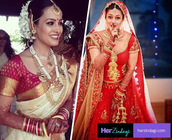 anita hassanandani divyanka tripathi bridal look